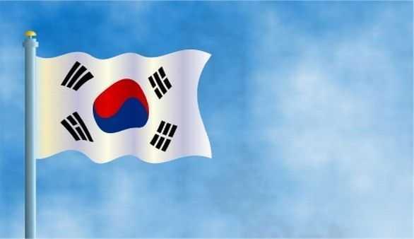 Flagge von Süd Korea