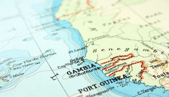 Gambia Karte