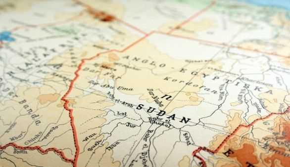 Sudan Karte
